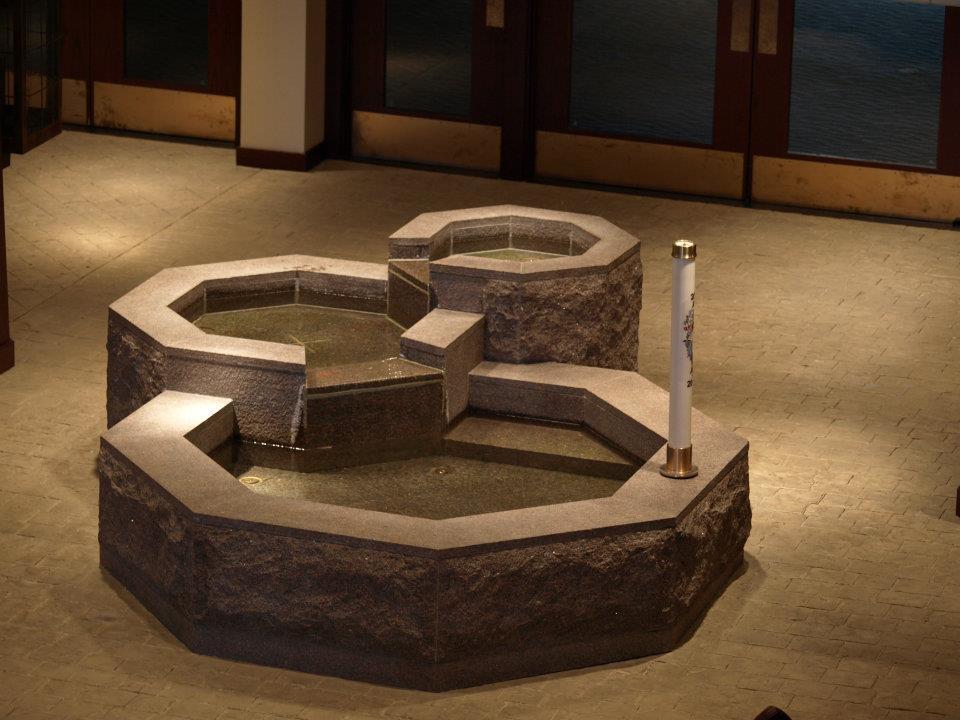 The Church Of Holy Apostles Baptismal Font