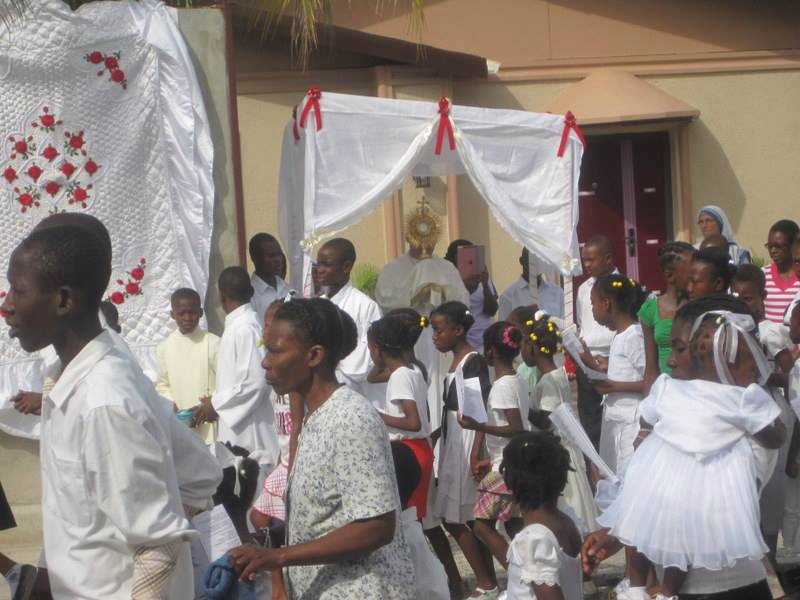 Haiti Eucharist Procession